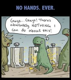 Because t-rex can't hold his willy