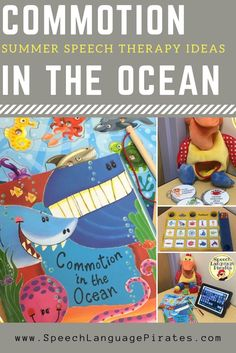 summer speech therapy commotion in the ocean book cariboo preschool special education