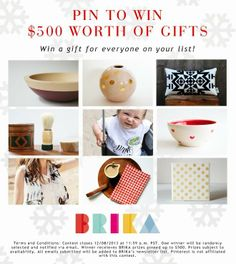 Win $500 worth of Gifts from Brika #brikagiftlist