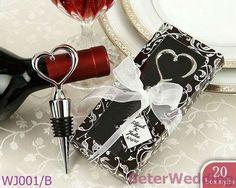 WJ001/B_Chrome Heart Bottle Stopper in Gift Box Wedding Gift/Wedding Favor/Wedding Present  http://www.BeterWedding.com