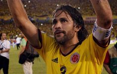 Mario Yepes, defensa colombiano en Brasil 2014.