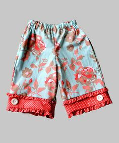 Love this Coral Floral Capri Pants - Toddler & Girls by Secretly Spoiled on #zulily! #zulilyfinds