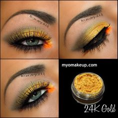 Colorful gold look