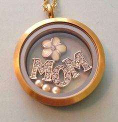 Celebrate your mom!  #mum #mother #momma #mommy #mama #mom #goldlocket #floatingcharms #debbiekean #southhilldesigns www.facebook.com/debbiek