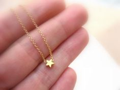Dainty gold tiny star necklace, gold and Dainty Gold Necklace, Diamond Solitaire Necklace, Diamond Pendant, Silver Earrings, Gold Choker, Diamond Necklaces, Gold Pendant, Initial Necklace Gold, Initial Jewelry