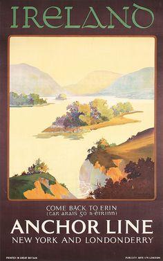 Ireland - Anchor Line - 1930 - (Clive Strangeman) -
