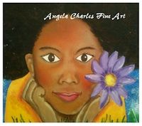 Flower Girls: Hope by Angela Charles Acrylic on canvas