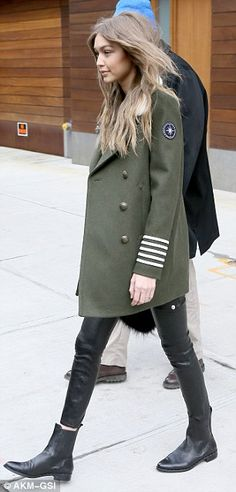 Fab fashionista: The beautiful blonde turned the sidewalk into her own personal runway as ...