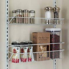 ClosetMaid 8 Tier Cabinet Door Organizer & Reviews | Wayfair Pantry Rack, Pantry Storage, Door Storage, Pantry Organization, Storage Rack, Kitchen Storage, Storage Ideas, Organizing, Door Spice Rack