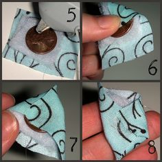 Make covered fabric buttons with pennies