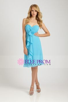 2013 Bridesmaid Dresses A Line Sweetheart Knee Length Chiffon With Ruffles