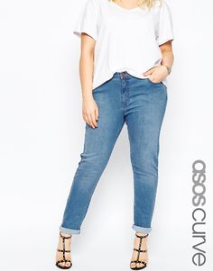 CASUAL CHIC - ASOS CURVE Denim Cigarette Straight Jean In Daisy