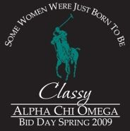 Bid day shirts made it on Pinterest!!! Alpha Chi Omega!! Ohh soo gonna use this!