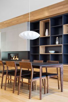 La Casa renovation in Montreal dining room shelves