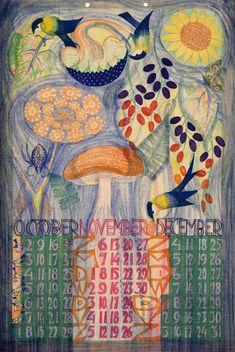 Kalender 1932. october, november, december. Leo Visser (illustrator)