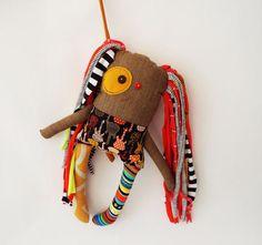 Monster Doll Textile Stuffed Doll Gift for Music Teacher