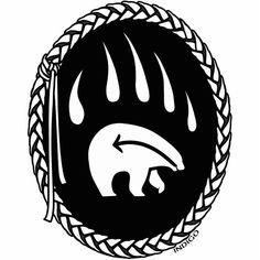 Native Symbols, Native American Symbols, Native American Crafts, Native American Design, Native Art, Native American Indians, Native Style, Tribal Bear, Arte Tribal