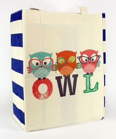 Look what I found on #zulily! 'Owl' Trio Tote by Common Rebels #zulilyfinds
