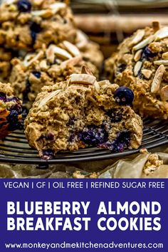 These wholesome Blueberry Almond Breakfast Cookies are full of healthy deliciousness and a perfect sweet treat for breakfast or dessert! Breakfast Cookies, Breakfast Recipes, Breakfast Time, Vegan Breakfast, Plant Based Breakfast, Alkaline Breakfast, Vegan Party Food, Plant Based Whole Foods, Processed Sugar