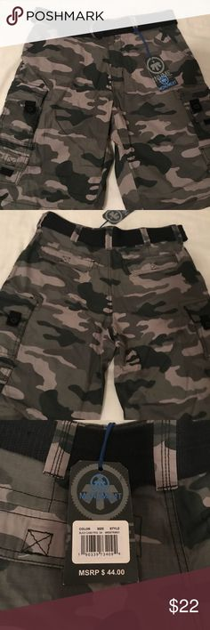 NWT Monument Camo Shorts I had bought these shorts awhile back, I never wore them or toke the tag off. So they were never used. The black belt on the shorts, is included.   OFFERS ARE WELCOME I DONT DECLINE, I COUNTER  If you need any more pictures or have a general question, feel free to comment down below, I WILL RESPOND.  Thank you for stopping by and taking a look :) Monument Shorts Cargo