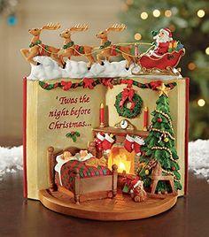 Lighted Night Before Christmas Tabletop Figurine Collections Etc Christmas Tabletop, Christmas Cake Decorations, Christmas Sweets, Holiday Cakes, Christmas Minis, Christmas Cookies, Christmas Time, Vintage Christmas, Christmas Wedding