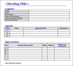 Minutes Word Template Endearing Mtg Notes For Minutes  Ptso Ideas  Pinterest  Mtg