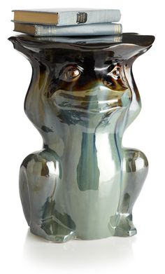 Pier 1 Frog Outdoor Garden Stool can also be an end table or plant stand