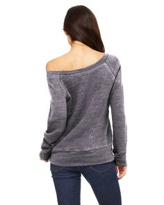 Bella Triblend Sponge Fleece Slouchy Wideneck Sweatshirt *** Check this awesome product by going to the link at the image.