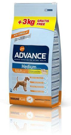 Pienso de alta calidad. Advance es una marca líder en el mercado que protege a tu mascota y le proporciona una alimentación equilibrada y saludable. #pienso #perros #calidad http://www.petclic.es/advance-adult-medium-pollo-y-arroz-pienso-perros-adultos-razas-medianas-14-3kg-gratis