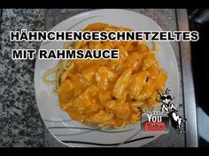 Hähnchengeschnetzeltes mit Rahmsauce - Das genaue Rezept findest Du in meinem Video auf YouTube bzw. dort in der Videobeschreibung.