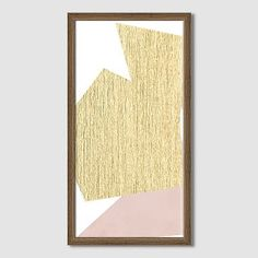 The Arts Capsule Ink Diptych - Blush And Gold #westelm