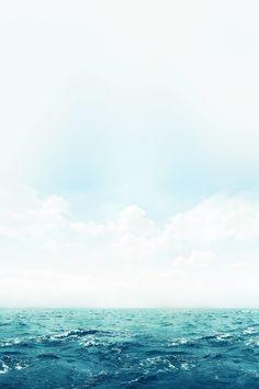 FREEIOS7 | ocean-green-sky-blue - parallax HD iPhone iPad wallpaper
