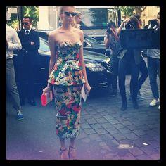 #PFW #Couture Elena Perminova au défilé #Dior www.treetslook.com
