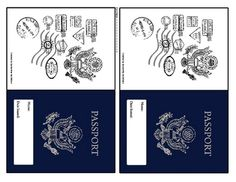 pretend passport template