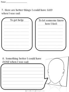CBT Sadness worksheet 6