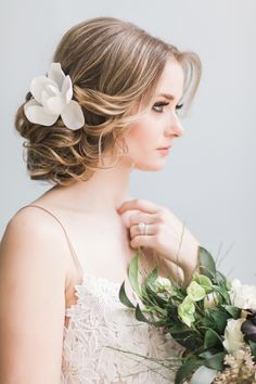 Credits: Photography by Rhythm Photography, Styling by Alicia Jenelle Events, Hair by Ladlyn Gool Romantic Wedding Makeup, Wedding Makeup Tips, Glamorous Wedding, Brides And Bridesmaids, Bridesmaid Hair, Prom Hair, Bridesmaid Ideas, Bridal Updo, Wedding Updo