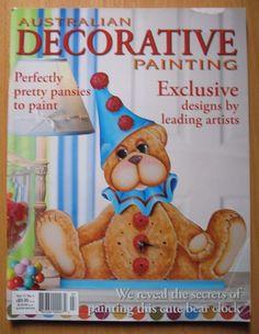 Australian decorative Painting vol.15 No. 4  Folk Art magazine pretty pansies #AustraliandecorativePainting