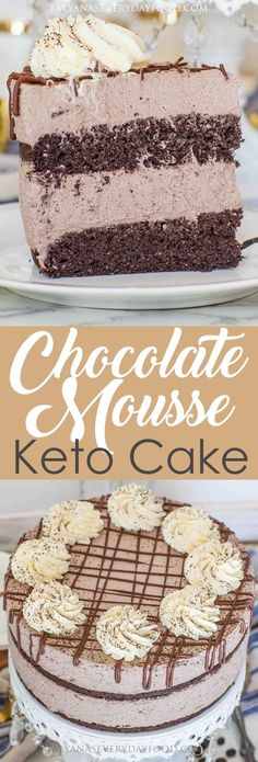 Keto Chocolate Mousse Cake video recipe