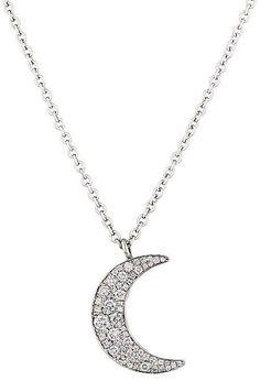 54dedbe7606c Collar de oro blanco con Luna 3 diamantes 0.03ct (76BGA004 ...