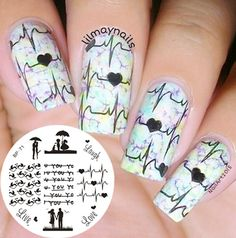 Aliexpress.com : Buy BORN PRETTY BP71 Love Theme Nail Art Stamping ...