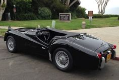 1961 Triumph TR3A Roadster Black For Sale Rear