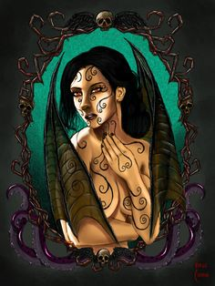 Devil woman portrait