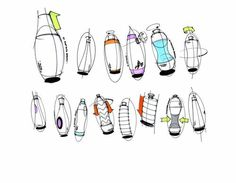 Water bottle sketches