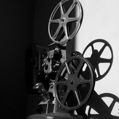 Morning light on a vintage projector.