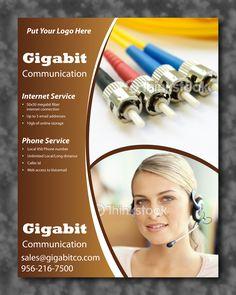 Gigabit communication flyer design for better marketing