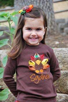 Personalized Thanksgiving Turkey Shirt with by sewcutecreations, $21.00
