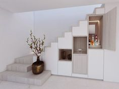 House Stairs, Facade House, Cabinet D Architecture, Architecture Design, Dream House Plans, House Floor Plans, Tiny House Loft, Open Stairs, Stair Walls