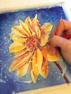 Learn to create beautiful, dream-like textures in your watercolor paintings simply by flinging masking fluid around!