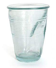 6afb33d776f8 These Crinkled Glasses Look Like Throwaway Plastic Cups Crinkles
