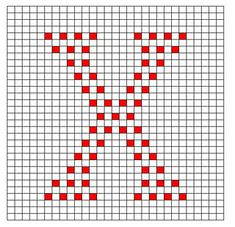 "Curly ""X"" Bobble Chart ~ free pattern ᛡ"